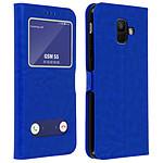 Avizar Etui folio Bleu pour Samsung Galaxy A6