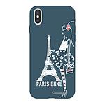 LA COQUE FRANCAISE Coque iPhone X/Xs Silicone Liquide Douce bleu nuit Parisienne