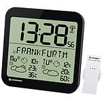 Bresser Horloge Noire Avec Grand écran Lcd Et Prévisions Météos Sur 4 Jours BRE_7001900-BK