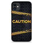1001 Coques Coque silicone gel Apple iPhone 11 motif Caution