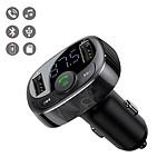 LA COQUE FRANCAISE Chargeur Voiture Double USB, Émetteur FM & Lecteur MP3 avec Kit Mains Libres