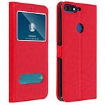 Avizar Etui folio Rouge pour Honor 7A , Huawei Y6 2018