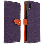 Avizar Etui folio Violet pour Apple iPhone XR