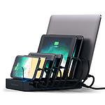 SATECHI  Station de charge 7 ports USB  noir