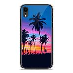 1001 Coques Coque silicone gel Apple iPhone XR motif Palmiers colorés