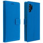 Avizar Etui folio Bleu Éco-cuir pour Samsung Galaxy Note 10