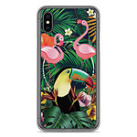 1001 Coques Coque silicone gel Apple iPhone XS Max motif Tropical Toucan