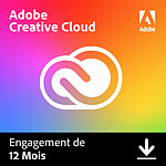Adobe Creative Cloud all Apps - Particuliers - Licence 1 an - 1 utilisateur - A télécharger