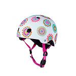 Micro Casque Vélo et Trottinette Doodle Dots  boucle magnétique  lumière LED intégrée  Taille M