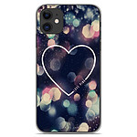 1001 Coques Coque silicone gel Apple iPhone 11 motif Coeur Love