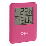 Thermomètre / Hygromètre intérieur magnétique - Rose - Otio