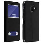 Avizar Etui folio Noir Éco-cuir pour Samsung Galaxy A6