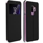 Avizar Etui folio Noir à fenêtre pour Samsung Galaxy S9 Plus