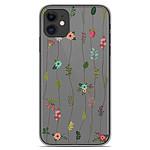 1001 Coques Coque silicone gel Apple iPhone 11 motif Montée de fleurs