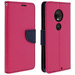 Avizar Etui folio Fuchsia pour Motorola Moto G7 , Motorola Moto G7 Plus