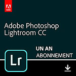 Adobe Lightroom CC - Licence 1 an - 1 poste - A télécharger