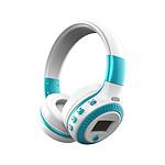 ZEALOT Casque Bluetooth Airsound Blanc   Bleu