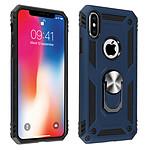 Avizar Coque Bleu Nuit Bi-matières pour Apple iPhone X , Apple iPhone XS