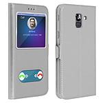 Avizar Etui folio Argent pour Samsung Galaxy J6