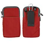 Avizar Pochette Rouge pour Smartphones : Longueur entre 60 mm et 167 mm et d'une largeur max de 88 mm