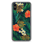 1001 Coques Coque silicone gel Apple iPhone X motif Tropical