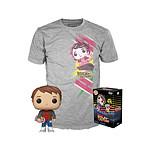 Retour vers le Futur- Set Figurine POP! et T-Shirt Marty heo Exclusive - Taille L
