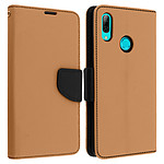 Avizar Etui folio Dorée Fancy Style pour Huawei P Smart 2019 , Honor 10 Lite