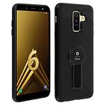 Avizar Coque Noir Béquille Intégrée pour Samsung Galaxy A6 Plus