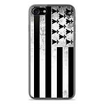 1001 Coques Coque silicone gel Apple IPhone 8 motif Drapeau Bretagne