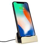 Avizar Station d'accueil Dorée pour Smartphones Apple iPhone à connecteur Apple Lightning