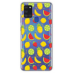 1001 Coques Coque silicone gel Samsung Galaxy A21S motif Fruits tropicaux