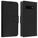 Avizar Etui folio Noir Fancy Style pour Samsung Galaxy S10