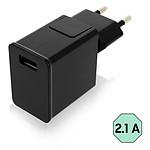 Avizar Chargeur secteur Noir pour Tous les appareils équipés d'un port micro USB