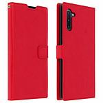 Avizar Etui folio Rouge Vintage pour Samsung Galaxy Note 10