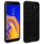Avizar Coque Noir Carbone pour Samsung Galaxy J6 Plus