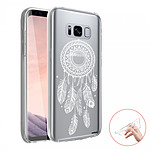 EVETANE Coque Samsung Galaxy S8 360 intégrale transparente Attrape reve blanc