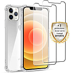 EVETANE Coque iPhone 12 Pro Max Antichoc Silicone + 2 Vitres en verre trempé