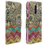 Avizar Etui folio Multicolore Éco-cuir pour Samsung Galaxy A6