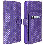 Avizar Etui folio Violet pour Smartphones de 4.3' à 4.7'