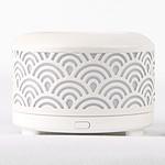 Zen'Arôme - Diffuseur d'Huiles Essentielles par Ventilation en Métal Nomea Blanc