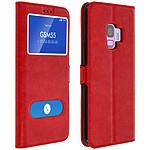 Avizar Etui folio Rouge pour Samsung Galaxy S9