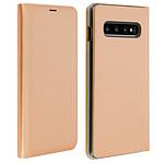 Avizar Etui folio Dorée Porte-Carte pour Samsung Galaxy S10 Plus