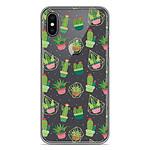 1001 Coques Coque silicone gel Apple iPhone X / XS motif Cactus