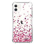 EVETANE Coque iPhone 11 anti-choc souple angles renforcés transparente Confettis De Coeur