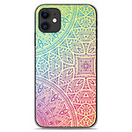 1001 Coques Coque silicone gel Apple iPhone 11 motif Mandala Pastel