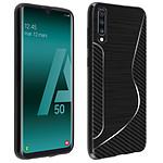 Avizar Coque Noir S-Line pour Samsung Galaxy A50