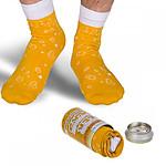Canette chaussettes bière