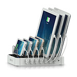 SATECHI Station de charge 7 ports USB  Blanc