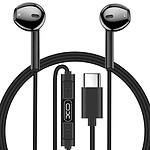 Avizar Ecouteurs Noir pour Tous les appareils dotés d'un port USB C