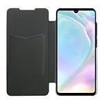 Isium Etui Portefeuille Slim Noir Dos Transparent Huawei P30